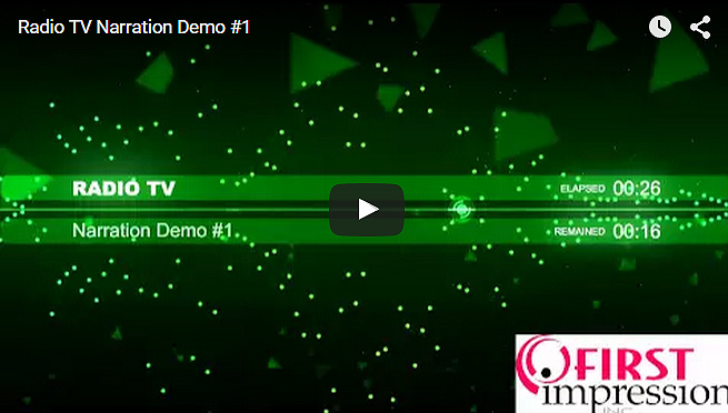 Radio TV Spot Demo #1 – Dean